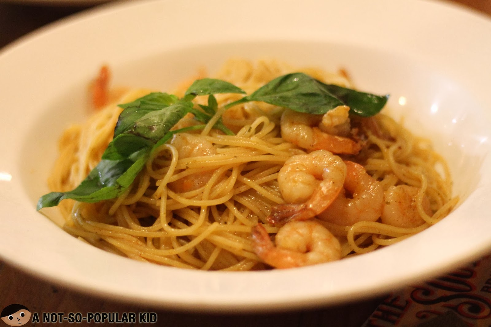 Shrimp Aglio Olio Pasta - simple but tasty!
