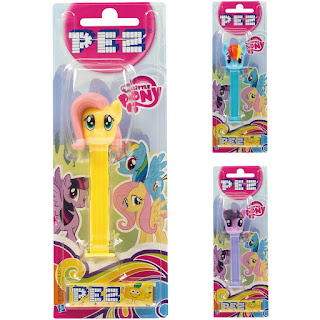 MLP Fluttershy, Rainbow Dash and Twilight Sparkle PEZ Containers