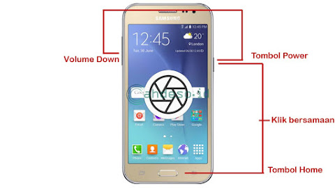 Screenshot HP Samsung J2 Tanpa Aplikasi Tambahan