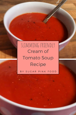 Syn Free Cream of Tomato Soup Recipe slimming world,  low calorie recipe, low calorie meals, low calorie dinner, slimming food
