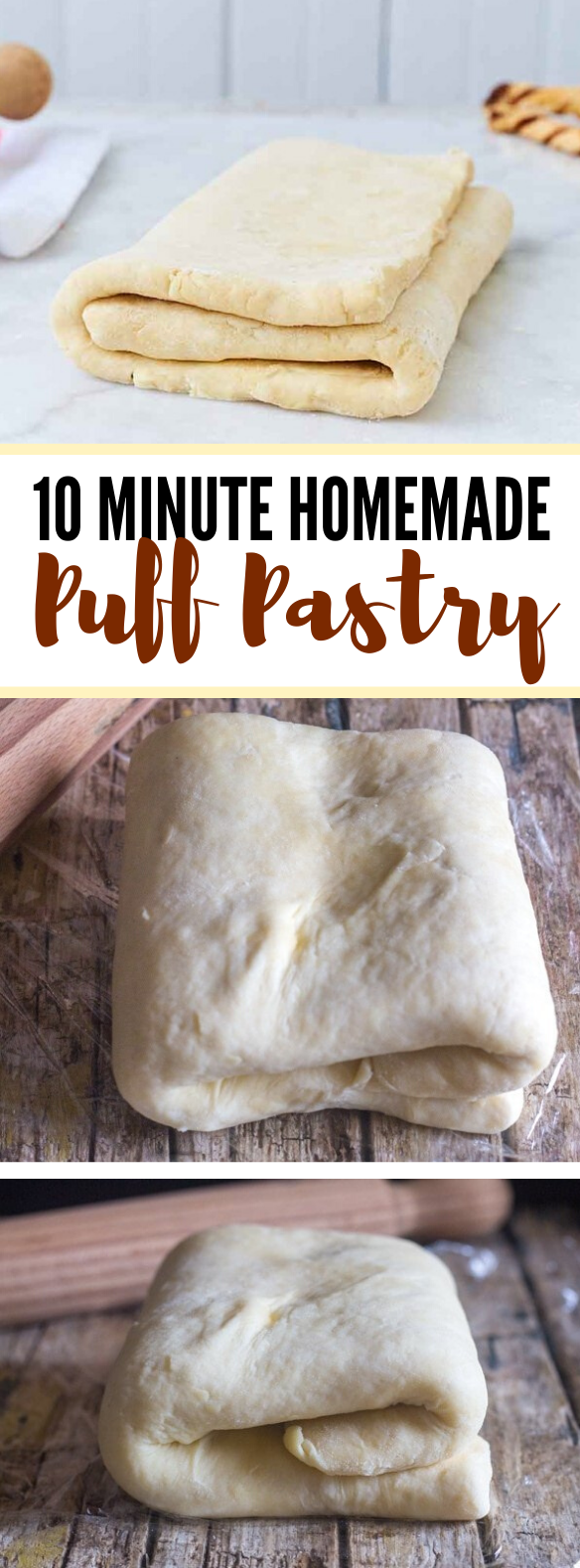 10 Minute Homemade Puff Pastry #meals #appetizers