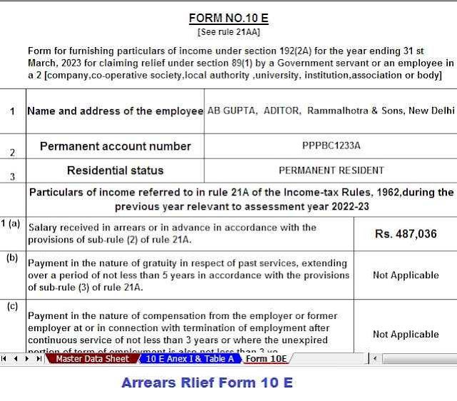 Form 10 E