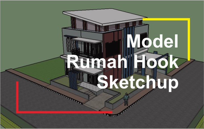 Download 3D Rumah Hook Sketchup