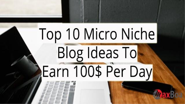 Top 10 Ideas To Make A Micro Niche Blog...?? Earn $100 Per Month...!!