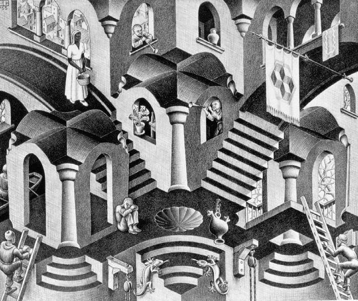 Convexas e Côncavas - Escher, M. C. e suas geniais litogravuras