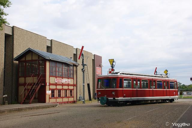 Riproduzione di stazione ferroviaria al Museo di Mulhouse
