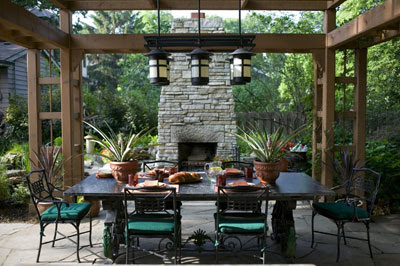 Outdoor Patio Decorating Ideas Back Yards Seating Areas