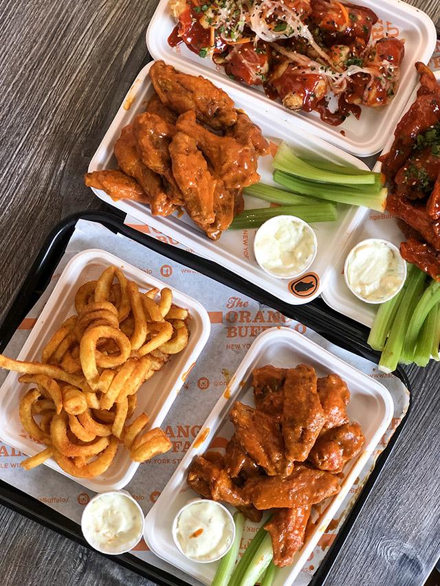 American Buffalo Wings London full plate