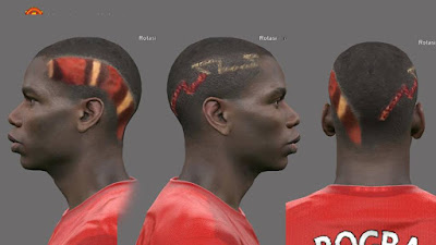 PES 2016 Face Paul Labile Pogba ( NEW HAIR ) by Alief