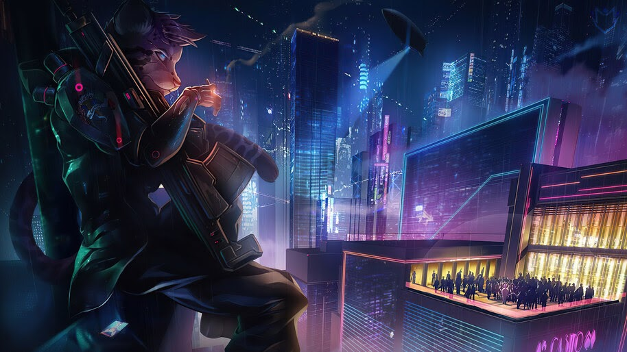 Cyberpunk, Beast, Soldier, Sci-Fi, City, 4K, #4.3099