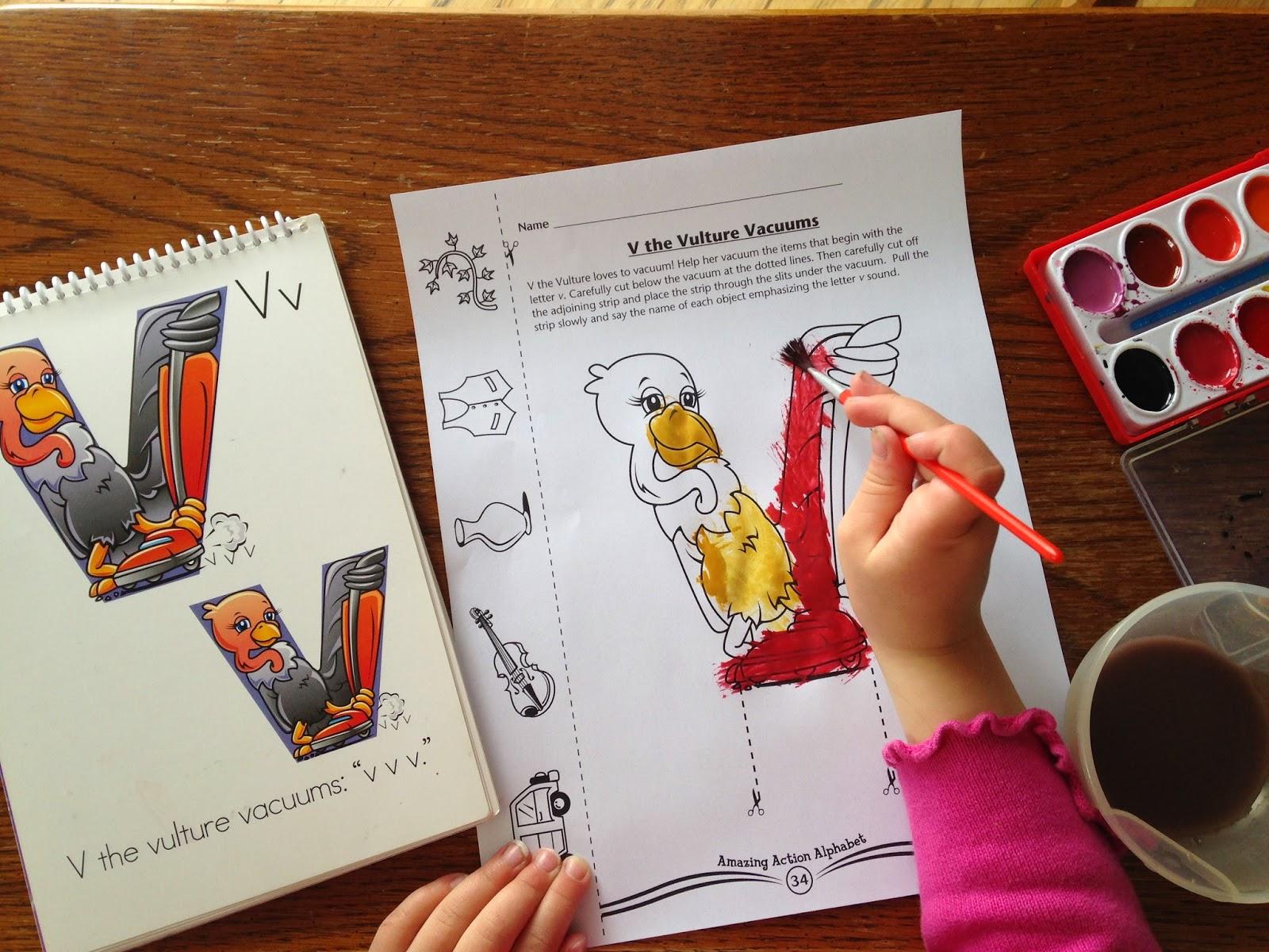 Letter V day with V the Vulture