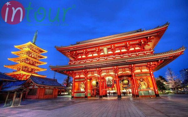 Ngôi chùa cổ nổi tiếng tại Tokyo