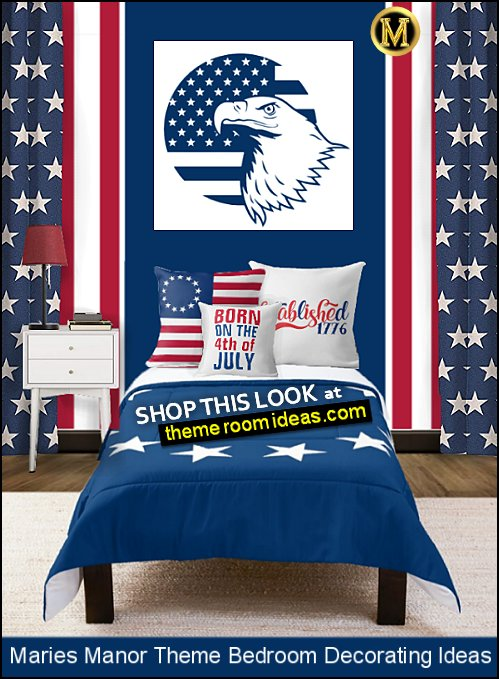 USA Stars Comforter  American Flag Throw Pillow  born on the 4th of July Throw Pillow