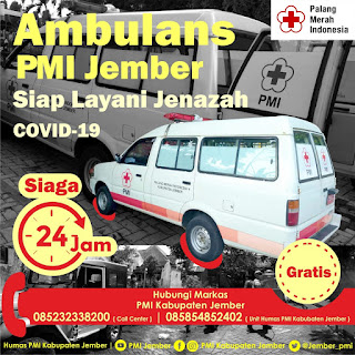 Mobil Ambulans Jenazah Covid-19 PMI Jember Layani Penjemputan Secara Gratis