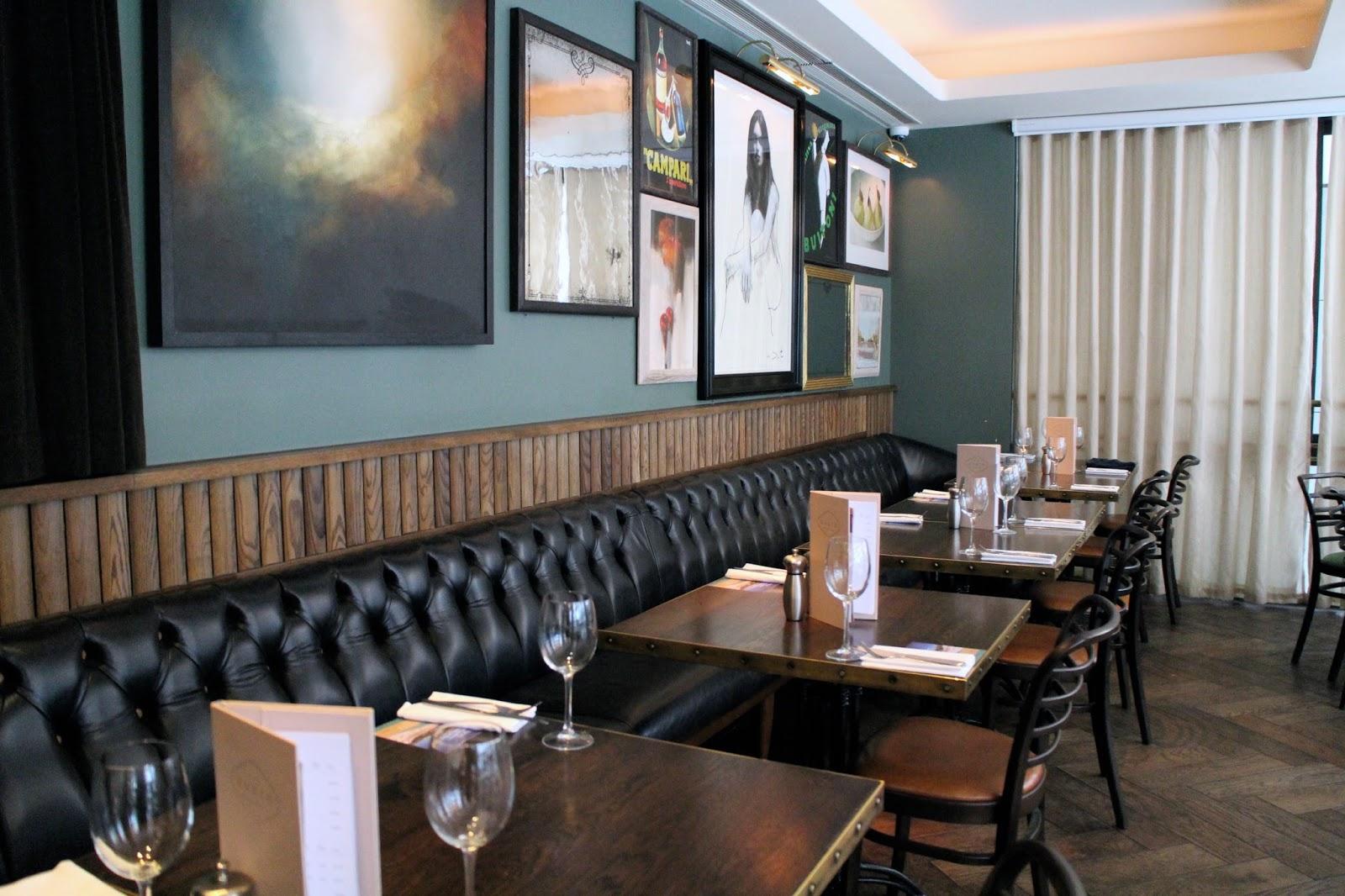 Gorgeous frame decor at Gusto Restaurants