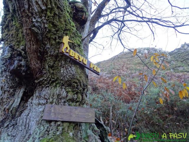 Cartel señalizador en la ruta de Beyu Pen