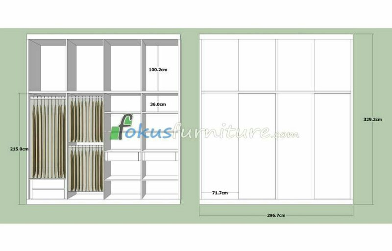 Ukuran Lemari Pakaian Furniture Kitchen Set Minimalis Lemari Pakaian Jakarta Harga Murah Permeter