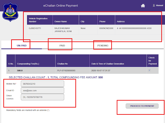 Palanpur RTO Payment online