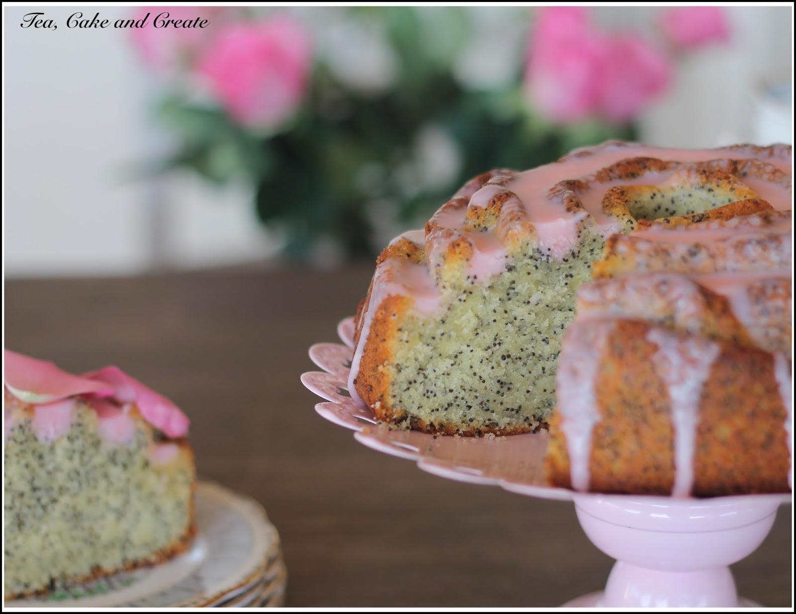 Tea, Cake & Create: Rose Water and Poppyseed Cake