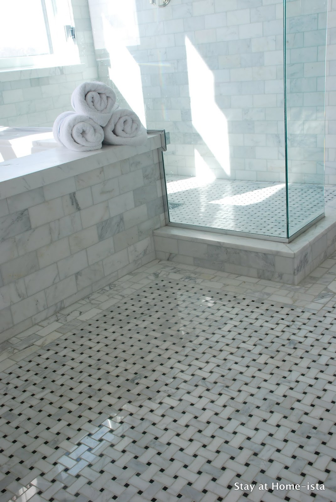 Remodelaholic marble master bathroom dream come true - Bathroom items that start with l ...