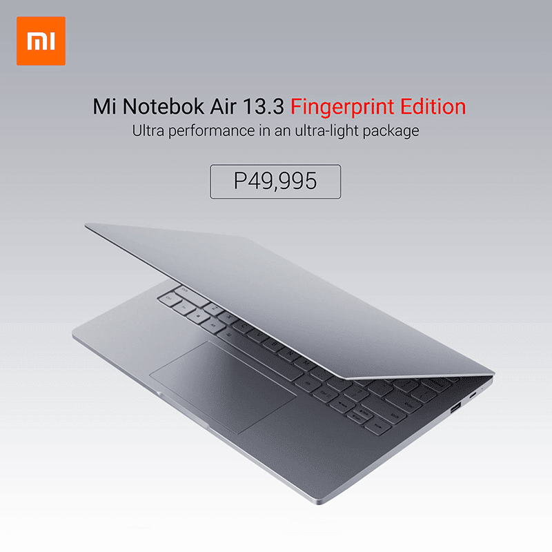 Xiaomi Mi Notebook Air 13.3 Fingerprint Edition arrives in the Philippines