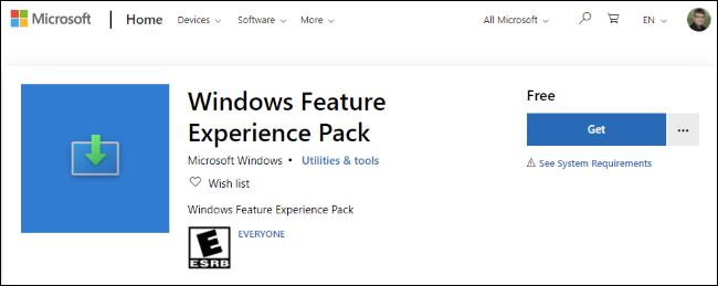 حزمة تجربة ميزات Windows في متجر Microsoft