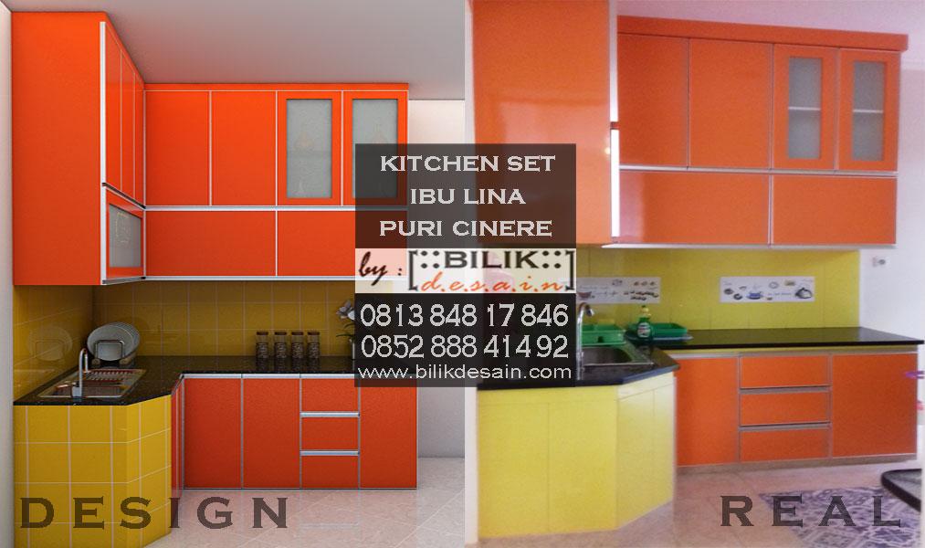 Dapur Kotor Orange Segar Milik Ibu Lina Di Puri Cinere Depok