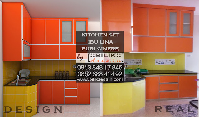 design kitchen set cinere, kitchenset depok, dapur kotor modern