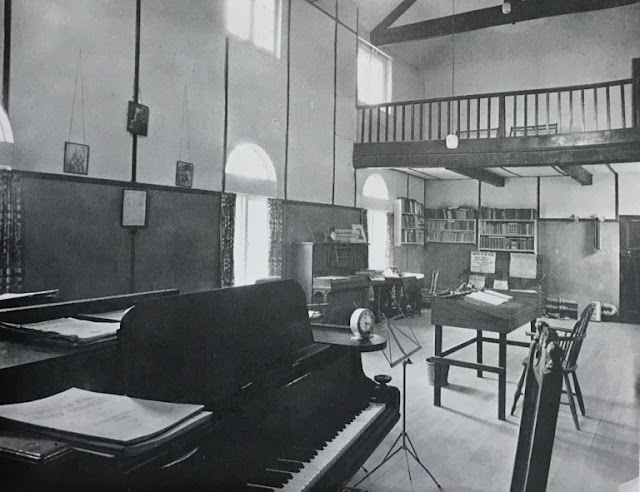 Roger Sacheverell Coke's Music Room in the converted stables at Brookhill Hall. It was later converted into a seven-bedroom property. (Photo Derbyshire Countryside)