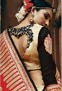 fdc9259811bcd8  53 Heart shaped cut out saree blouse back neck design