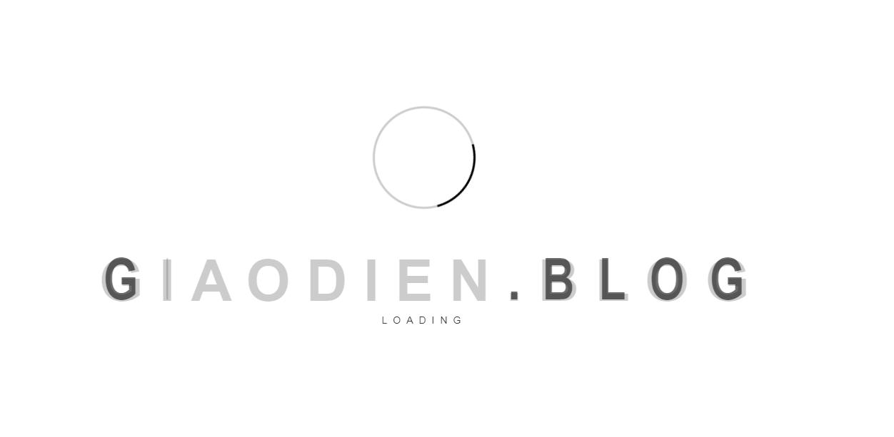 Hiệu ứng loading đẹp cho blogsptot