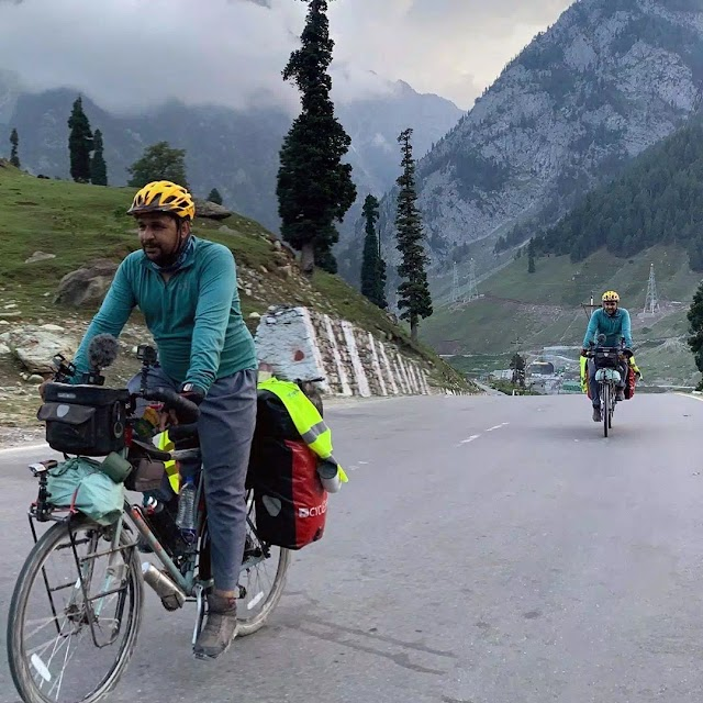 Cycle Baba - The Doctor Who travel across the Globe for Climate Change