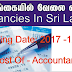 Vacancies In Sri Lanka - Post Of - Accountant
