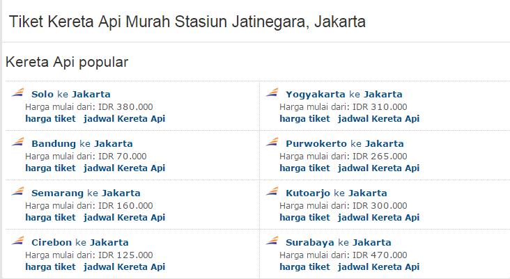 Tabloid Transportasi Harga Tiket Kereta Api Murah Untuk Stasiun