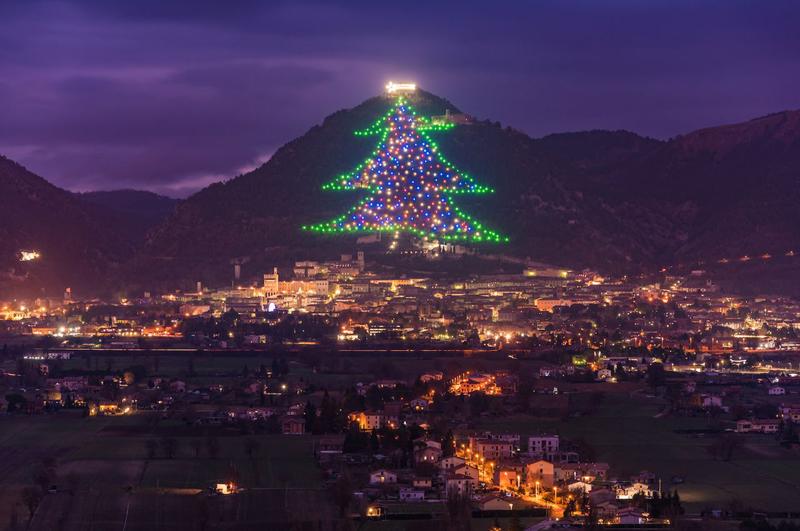 Gubbio Christmas tree — Gubbio, Italy