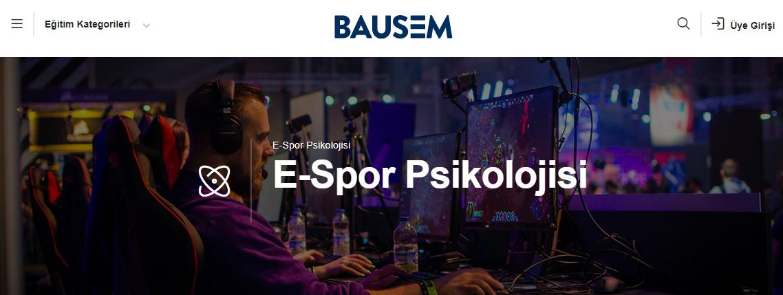 Türkiye'deki İlk Espor Eğitimi: BAUSEM