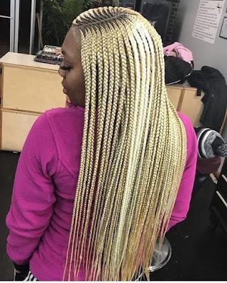 31 Beautiful Lemonade Braids Ponytails for Black women To Copy