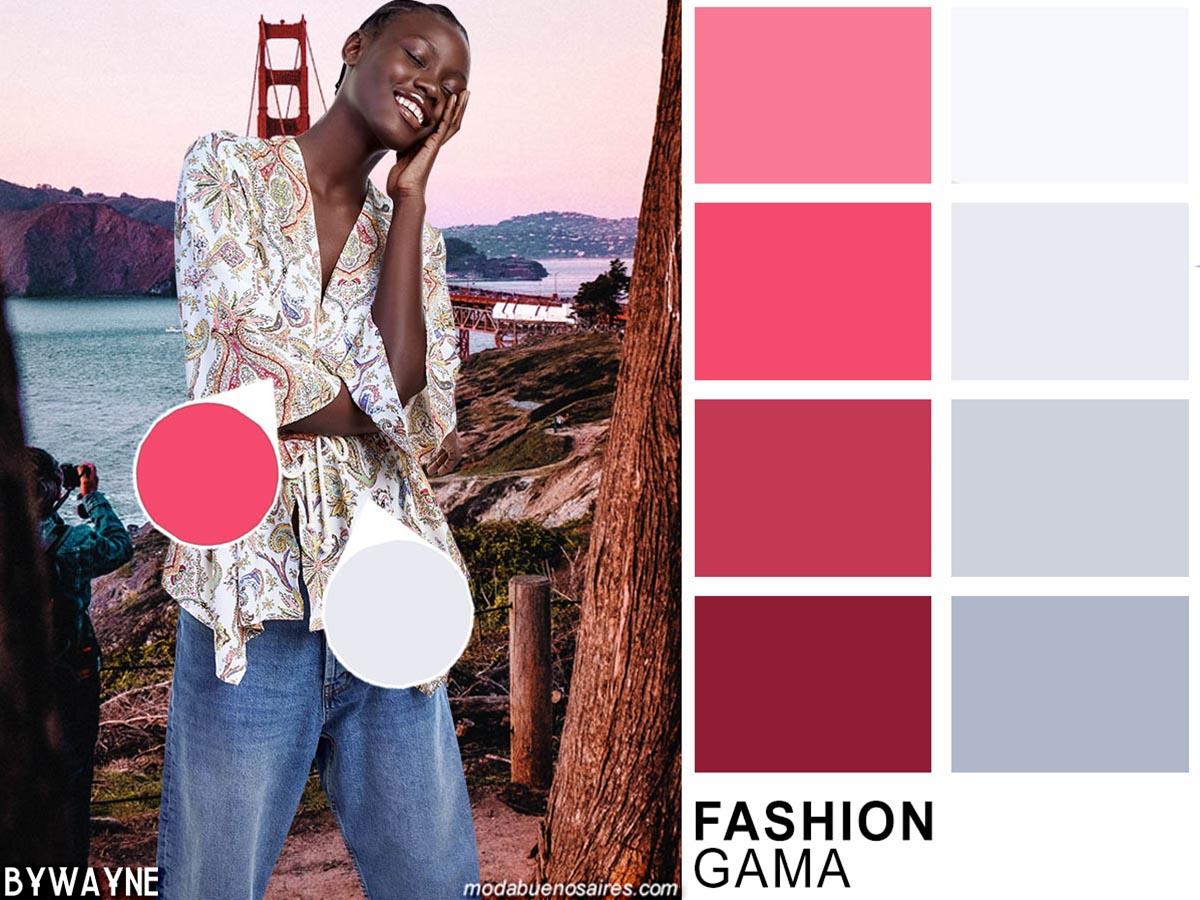 Gamas de colores de moda de la primavera verano 2020. Moda 2020. Colores.