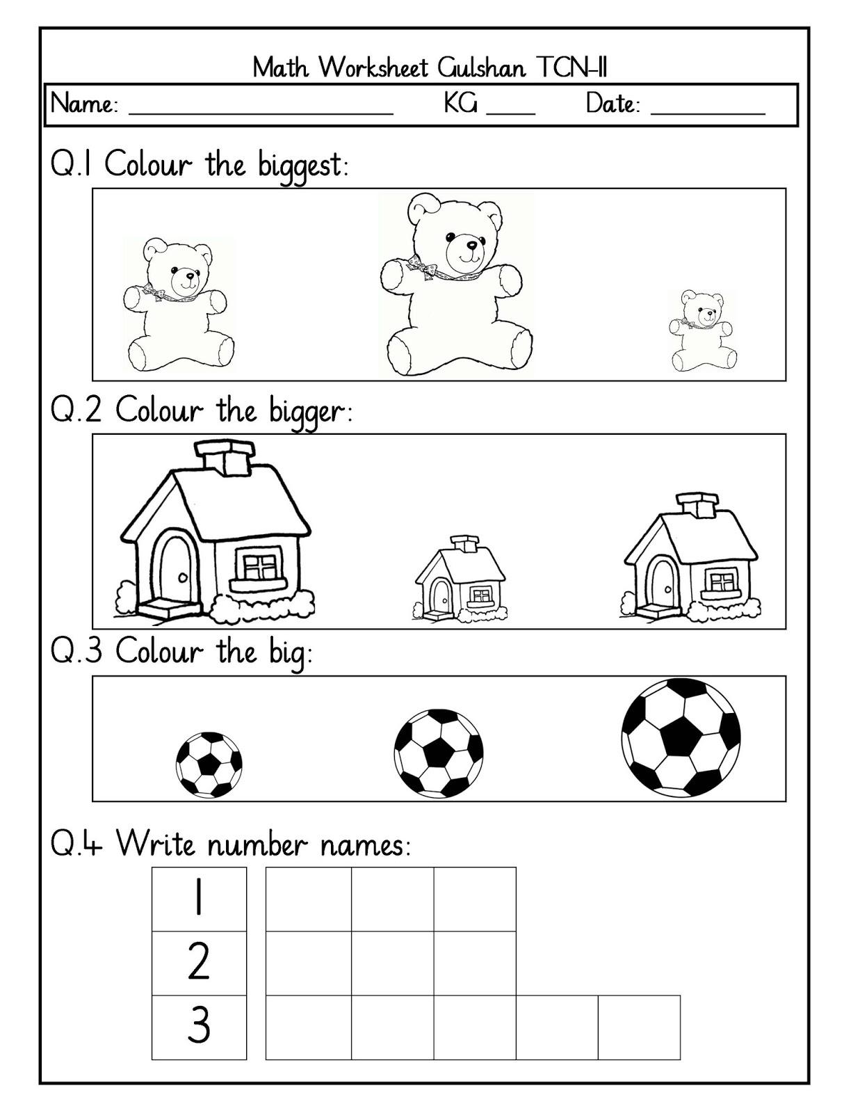 Ng Worksheet For Kindergarten