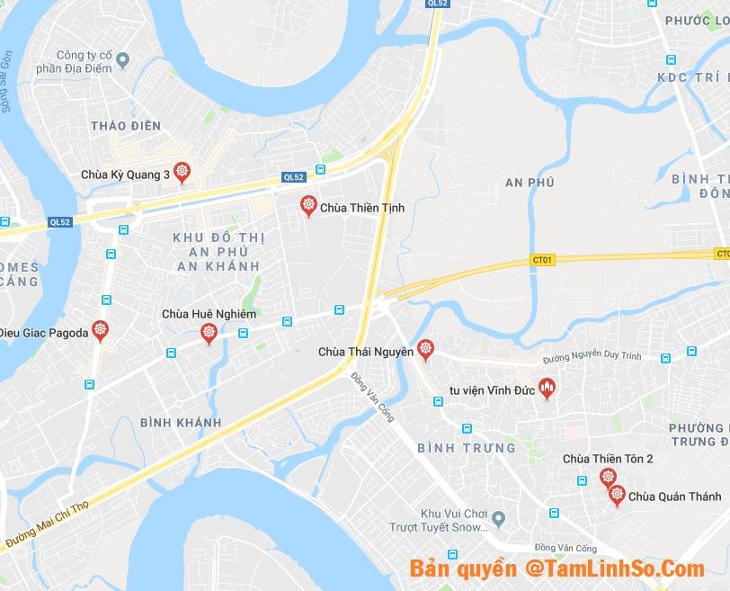 Quận 2 là quận có rất nhiều chùa lớn tại Sài Gòn