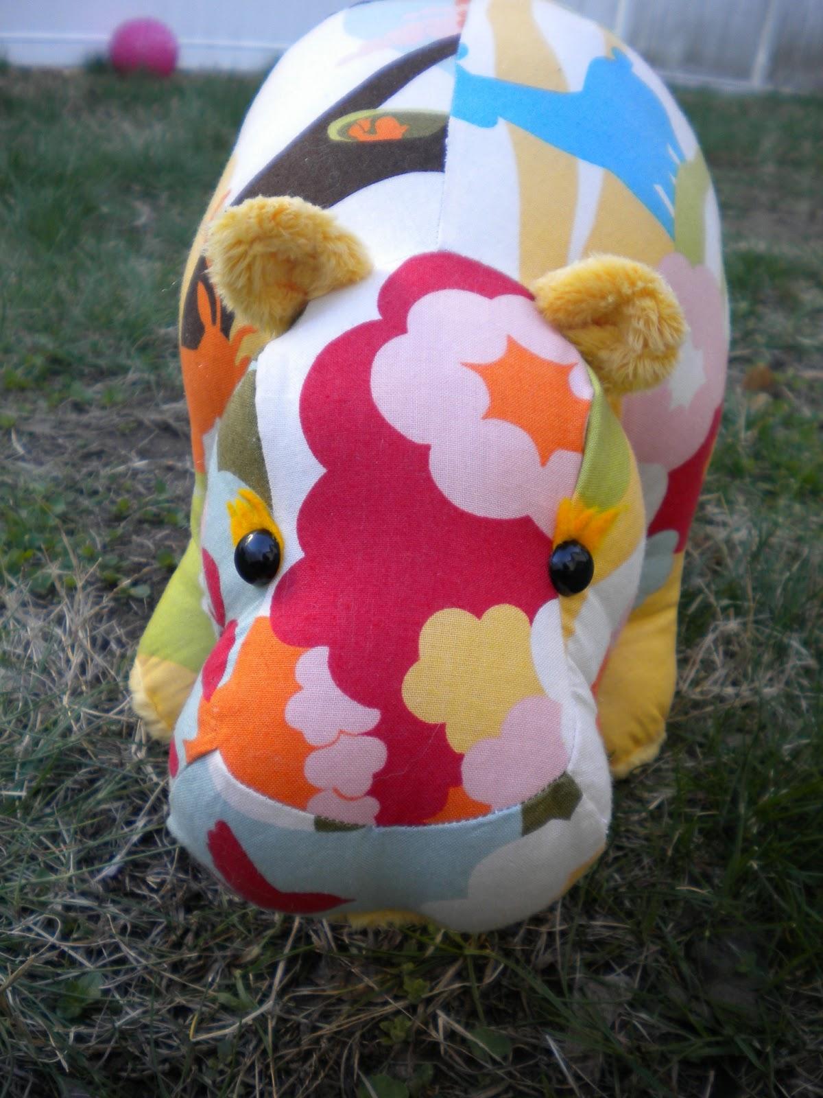 Stuffed Hippo Patterns Sewing Animal