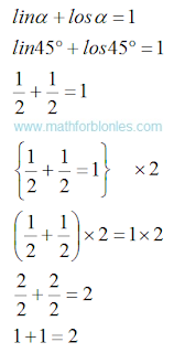 The emergence of mathematics. Mathematics For Blondes.