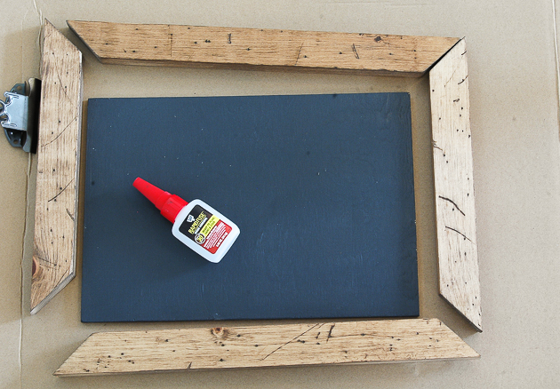putting DIY photo clipboard together