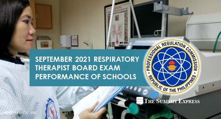 RESULTS: September 2021 Respiratory Therapist board exam performance of schools