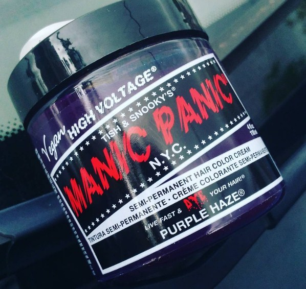 Manic Panic Purple Haze as DIY Hair Toner for Brassiness