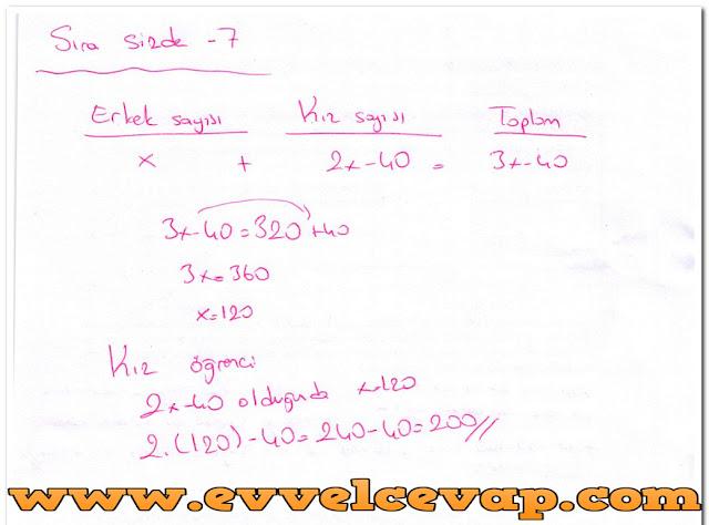 6. Sınıf Matematik MEB Yayınları 27. Sayfa Cevapları Doğal Sayı Problemleri