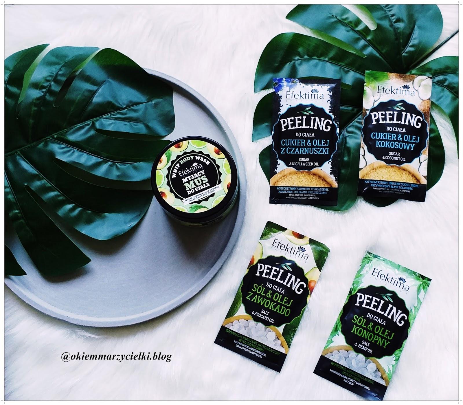 Myjący mus do ciała (wyciąg z limonki & olej z awokado)| Peeling do ciała (Sól & Olej konopny, Sól & Olej z awokado, Cukier & Olej kokosowy, Cukier & Olej z czarnuszki)| Efektima- recenzja #94