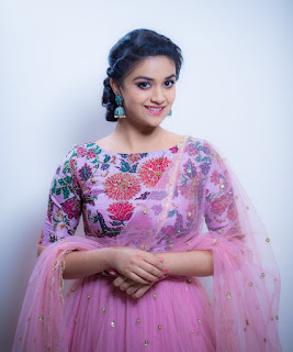 Keerthy Suresh in Pink Dress with Cute and Awesome Lovely Chubby Cheeks Smile 1