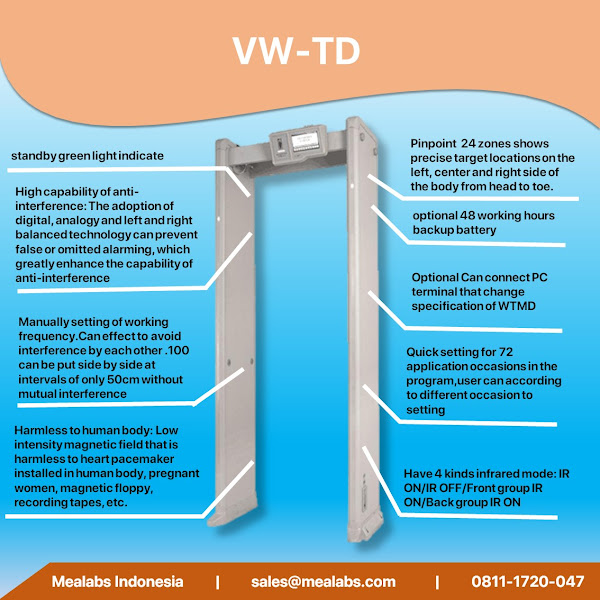 VW-TD Walktrough Metal Detector