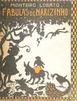Fabulas de Narizinho. Monteiro Lobato. Editora Monteiro Lobato & Cia (São Paulo-SP). 1921. Ilustrações de Voltolino (Lemmo Lemmi).